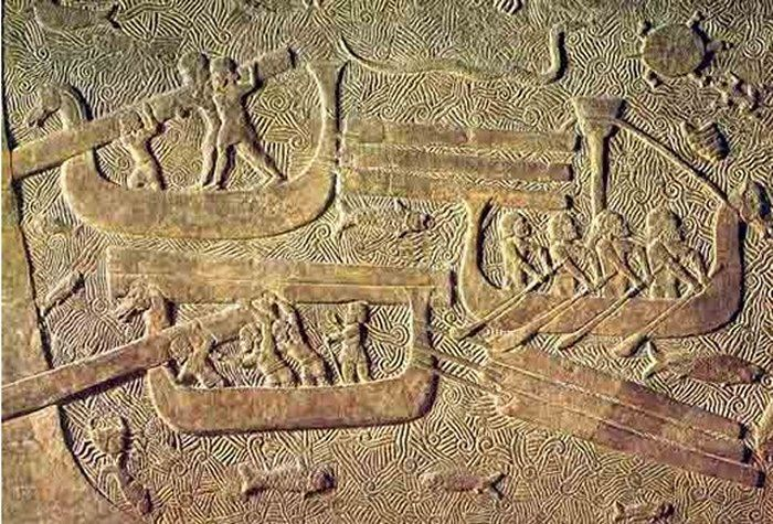 The Philistine 'Sea Peoples' didn't invade Kunulua, they lived there, as the great civilizations collapsed 3,200 years ago, the Sea People arose