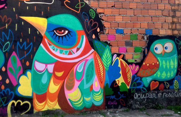 Mulheres no Graffiti: Conheça as ilustrações, os pássaros e cores vibrantes da incrível artista paraense Michelle Cunha | art, design, photografy | Pinterest |…