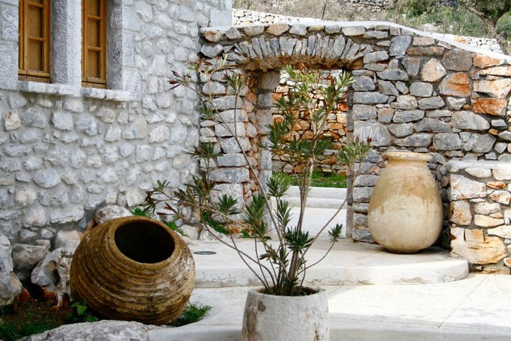 Enjoy nature's tranquility… Have a walk in the peaceful garden and reconnect with yourself at luxury Villa Onor in Mani, Peloponnese, Greece