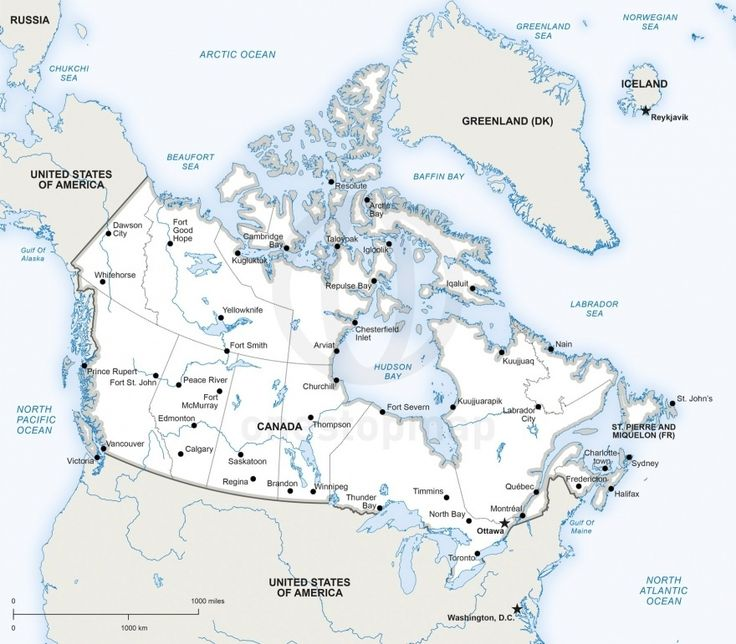 39 best Maps of North America continent regions countries