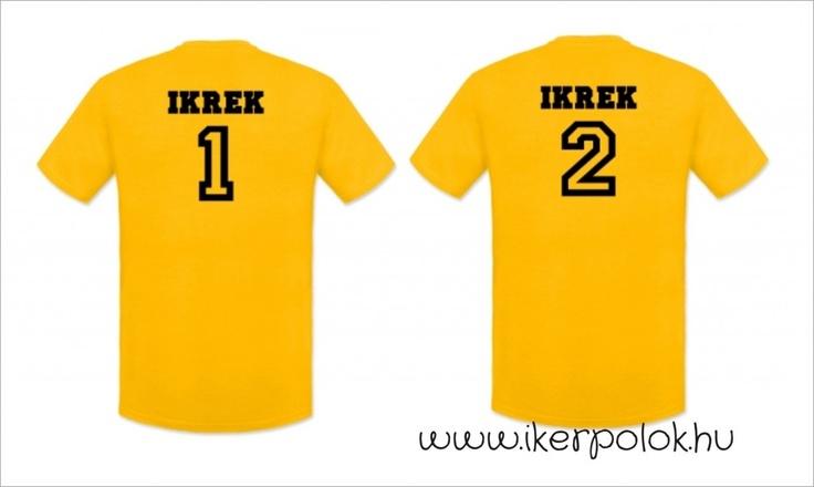 Ikrek 1, ikrek 2, Iker pólók fiúknak
