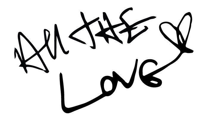 All The Love Vinyl Sticker - Harry Styles Handwriting by 1DHappyDays on Etsy https://www.etsy.com/listing/230330596/all-the-love-vinyl-sticker-harry-styles