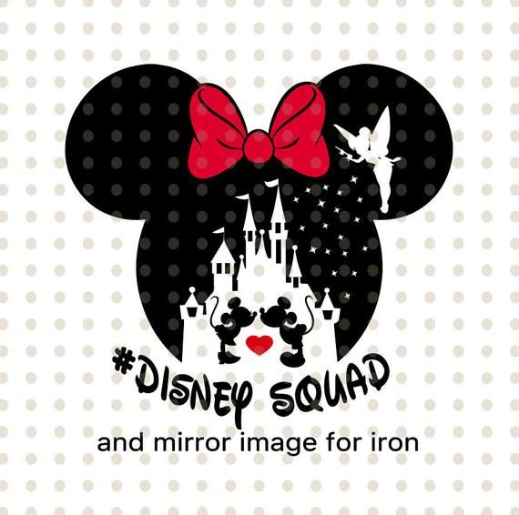 PdF and JPg Files Disney Squad SvG PnG