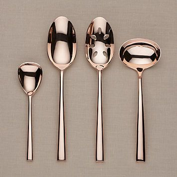 kate spade new york Malmo Rose Gold 4-piece Stainless Flatware Hostess Set by Lenox #lenoxweddingcolors
