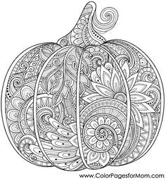 Coloring pages for adults - Halloween Pumpkin Coloring Page