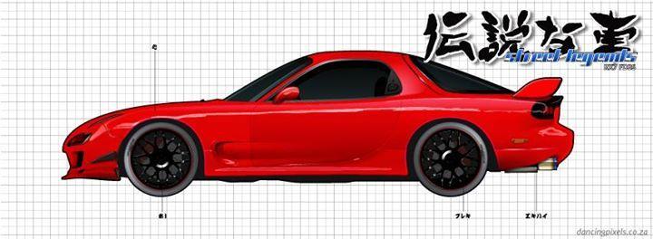 Street Legends   Mazda RX7 FD 3S   Vector Illustration