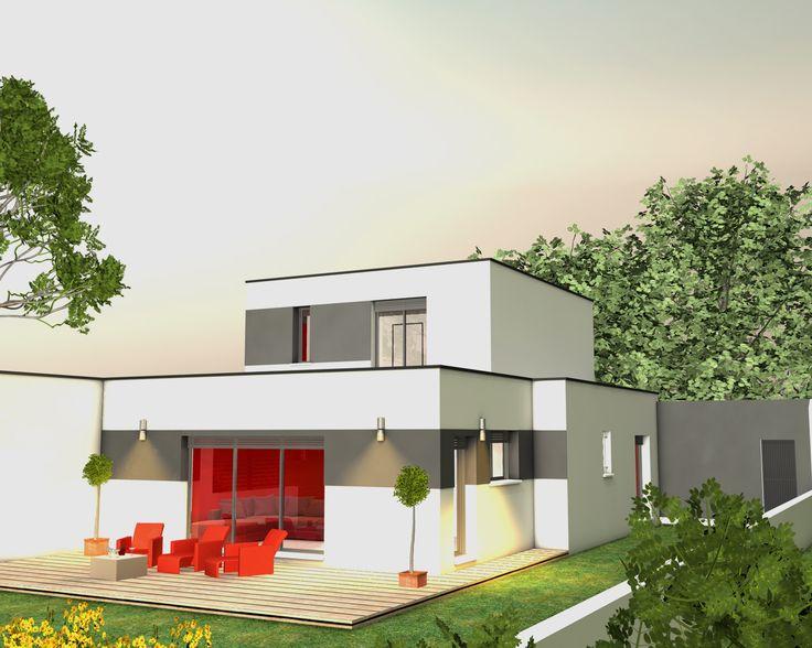 Les 35 meilleures images propos de plan maisons sur for Plan de maison cote