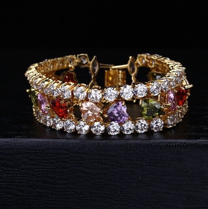 Luxury Center Heart CZ Multilayer Bracelet