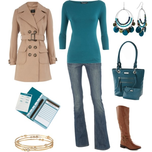 SpringFun Fashion, Cinderella Closets, Colors Combos, Casual Chic, Color Combos, Style, Blue Green, Outfit, Trench Coats