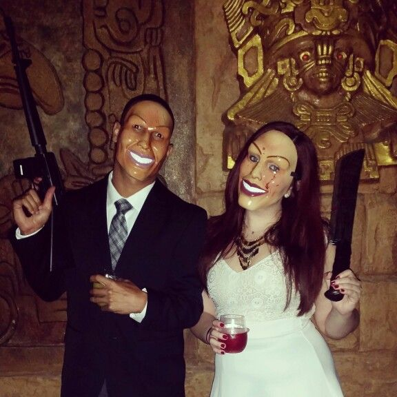 The Purge scary couples costume
