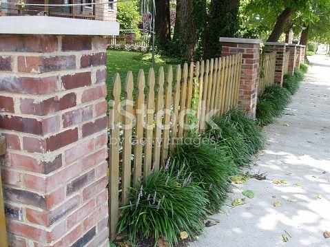Brick & Picket Fence