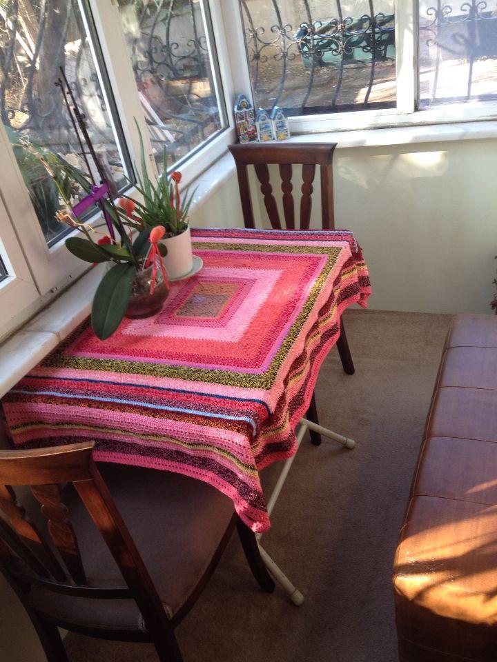 Balkon, balcony, crochet