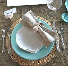 Great summer table setting scape.  newport beach: beachy tablescape  http://www.annabelchaffer.com/categories/Dining-Accessories/