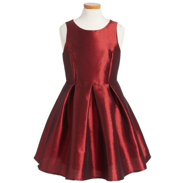 SOPRANO Sleeveless Skater Dress (1,215 MXN) ❤ liked on Polyvore featuring dresses, no sleeve dress, red dress, red satin dress, satin skater dress and sleeveless dress