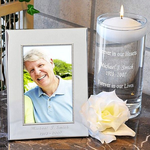 Reception Ceremony Burial: Personalized Floating Memorial Candle & Frame Set