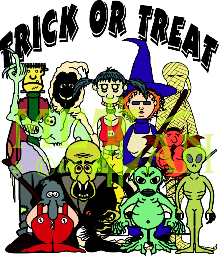 The monstrous Gang is ready for Halloween; Trick or Treat?