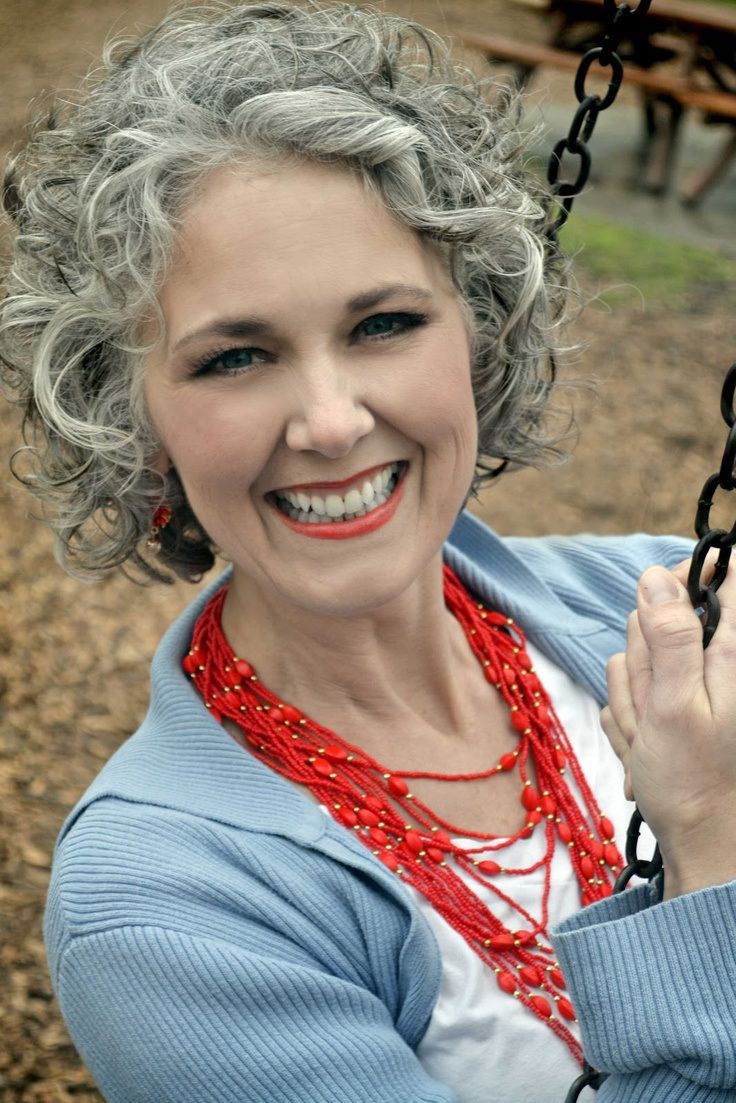 1000+ images about Curly Grey hair STYLE on Pinterest ...