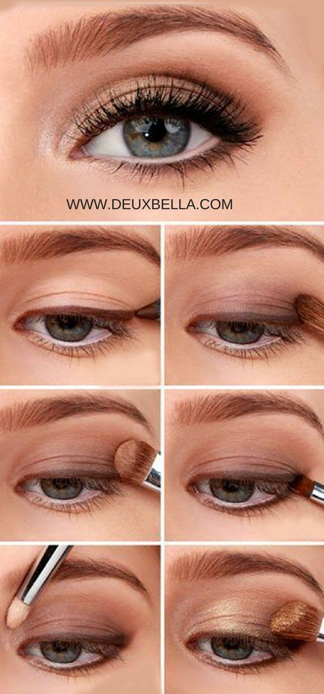 Easy Natural Eye Makeup anyone can do. Step by step eye makeup how-to. This site has lots of video tutorials from professional makeup artists. Pinning now for later