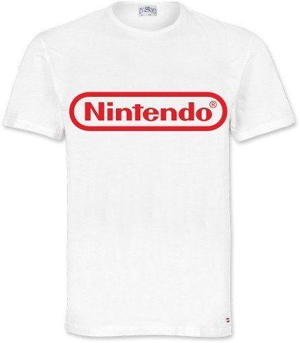 6bf52098b Playera O Camiseta Nintendo Logo Original Clasico Todas Tall ...