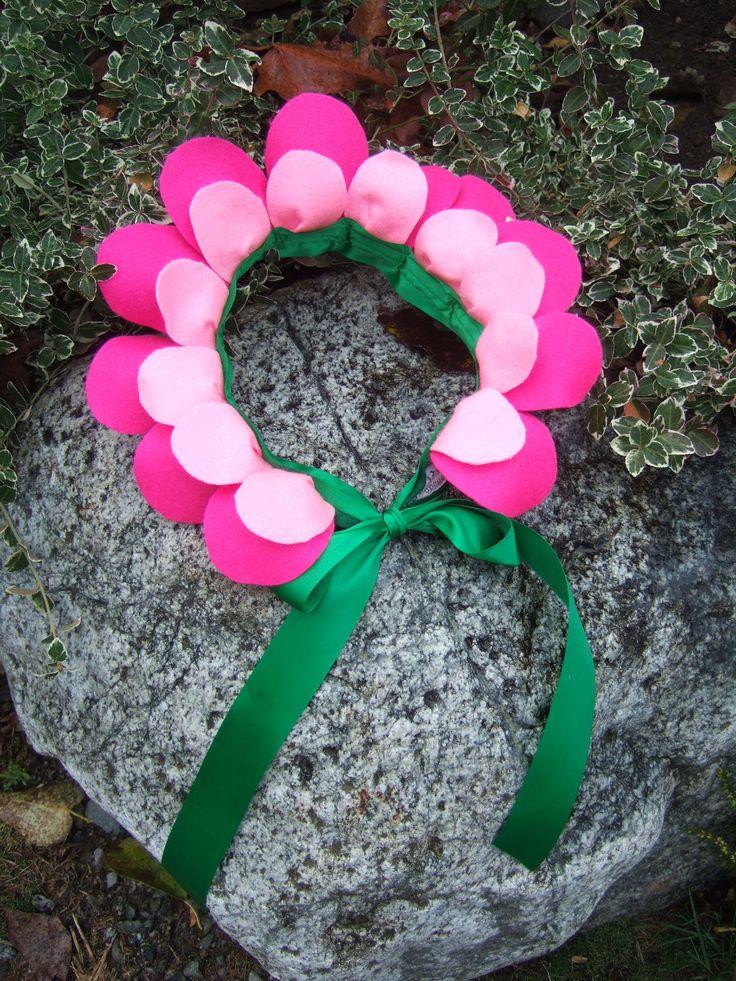 Flower Headpiece - Pink Felt - Flower Costume - Flower Crown -Alice in Wonderland - Flower Fairy. $30.00, via Etsy.
