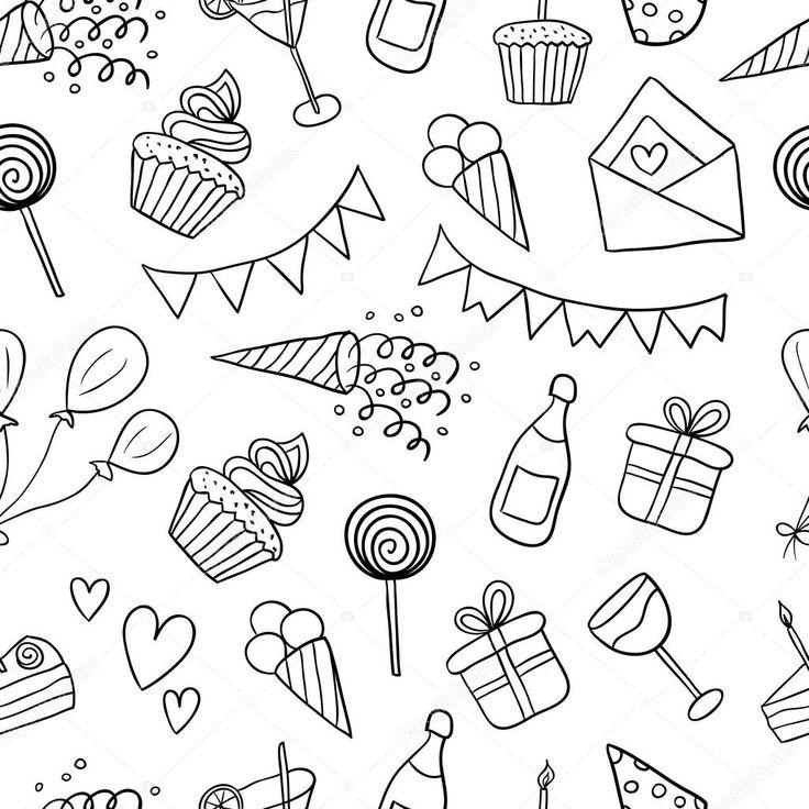 Фон открытки с днем рождения черно-белые, любимому