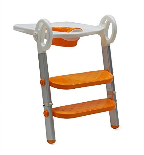 Potty Training Seat and Step Toilet Trainer 2 Ladders Alu...