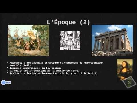 Analyse du titre du chapitre 1 : Humanisme et Renaissance du programme de Bac Pro .