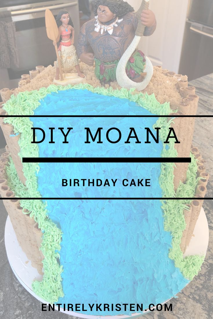Step by step on how to create a Moana Birthday Cake. How I made a two tiered Disney Moana themed birthday cake at home. It was the perfect addition to our Moana themed birthday party. #diy #disney #disneycake #disneybirthdayparty #moana #moanacake #moanabirthday #birthdaypartyideas #birthdayparty