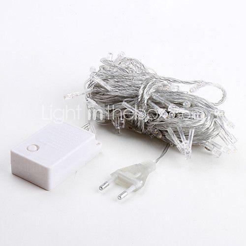 10m de 100 led blanc chaud 8 étincelles modes de noël fée guirlande lumineuse (220v) - EUR €7.83