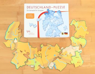 Deutschland-Puzzle für den Sachunterricht in der Grundschule