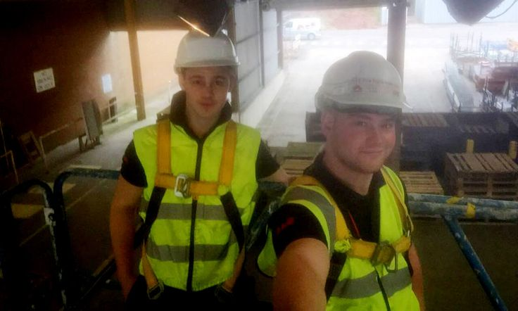 A&E Fire & Security: Founded in 1965, A&E Fire and Security supplies, installs and services fire equipment and security systems in The South West, Midlands and London area. Here's two of the employees, who happen to be brothers (Aaron and Callum), posting an office selfie showing them at work on a typical day.
