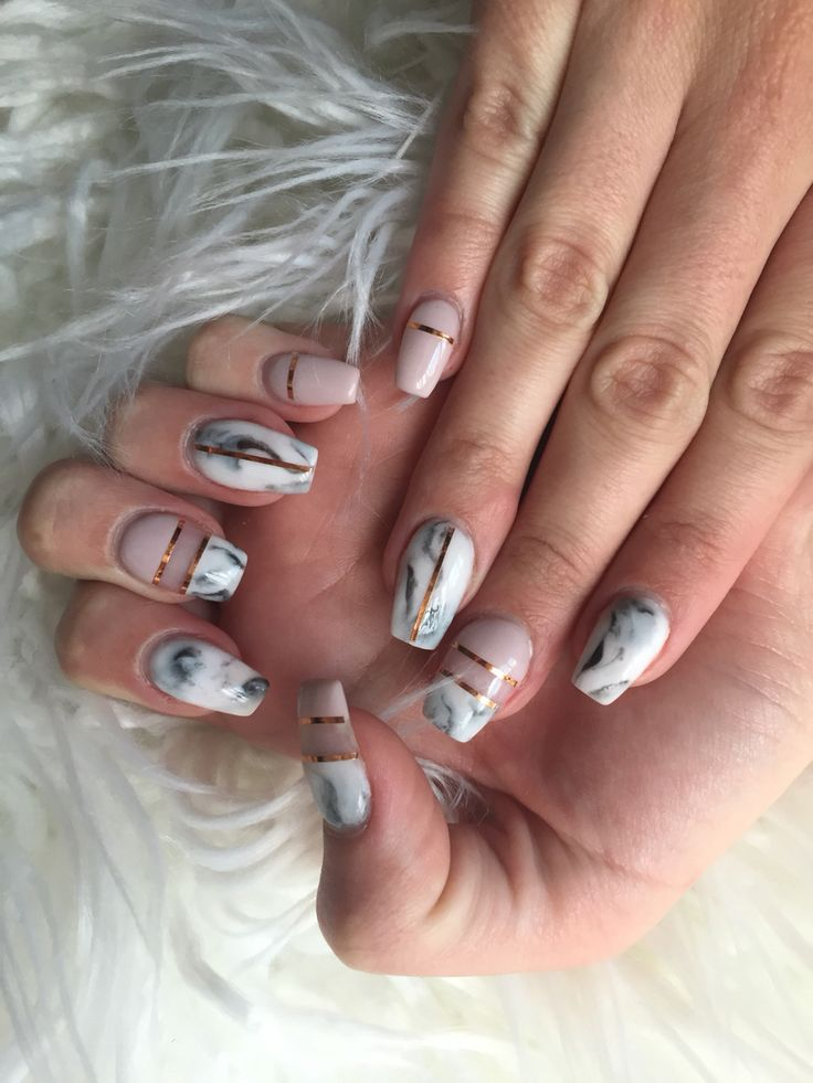 nice Изысканный мраморный маникюр (50 фото) — Самоцветы на ноготках Читай больше http://avrorra.com/mramornyj-manikyur-foto/
