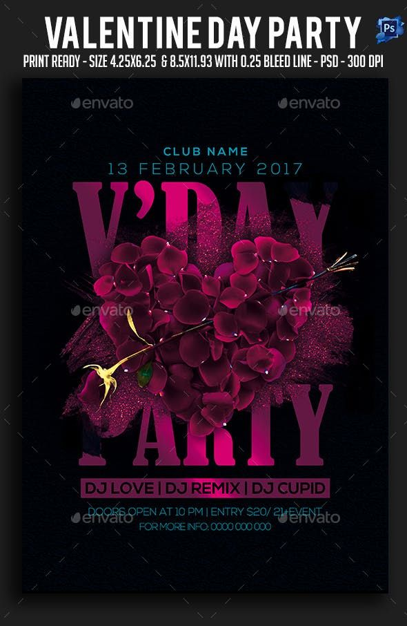 Valentine Day Party Flyer Clubs Parties Events Party Flyer Valentines Day Party Valentine
