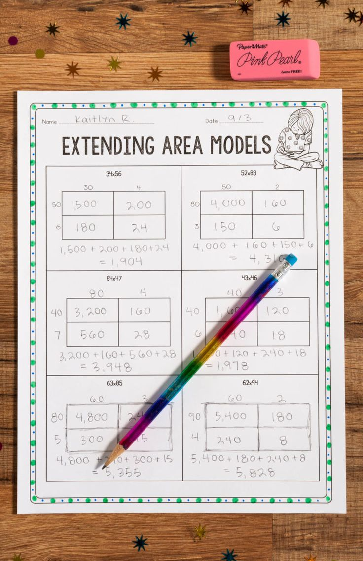 This area model practice is perfect for teaching 2-digit by 2-digit multiplication!