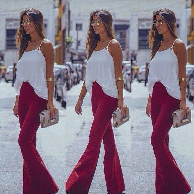 CALÇA BANDAGEM FLARE REF.5466 | Sheila Moda Fashion