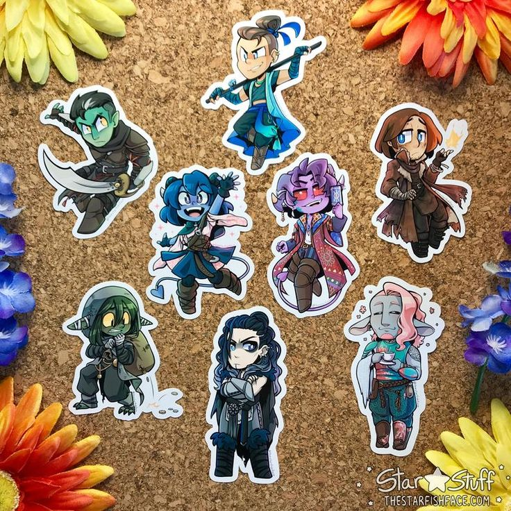 Critical role mighty nein stickers in 2020 critical