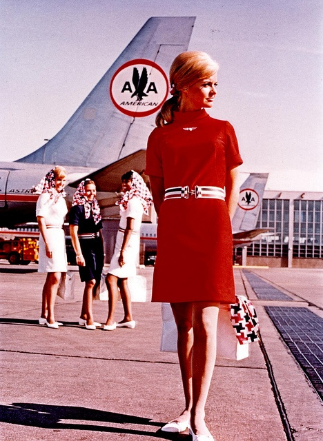 THIS WAS CLAUDIA'S  FIRST UNIFORM.   Patty Poulsen - AA Flight Attendant Also appeared in the movie Airport.