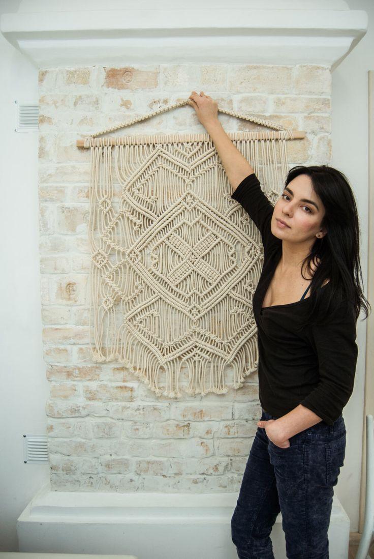 "PROMO PRICE! Macrame wall hanging,  macrame wall art,  bohemian decor Ethnic Pattern"" by TheWovenDream on Etsy https://www.etsy.com/listing/264778056/promo-price-macrame-wall-hanging-macrame"
