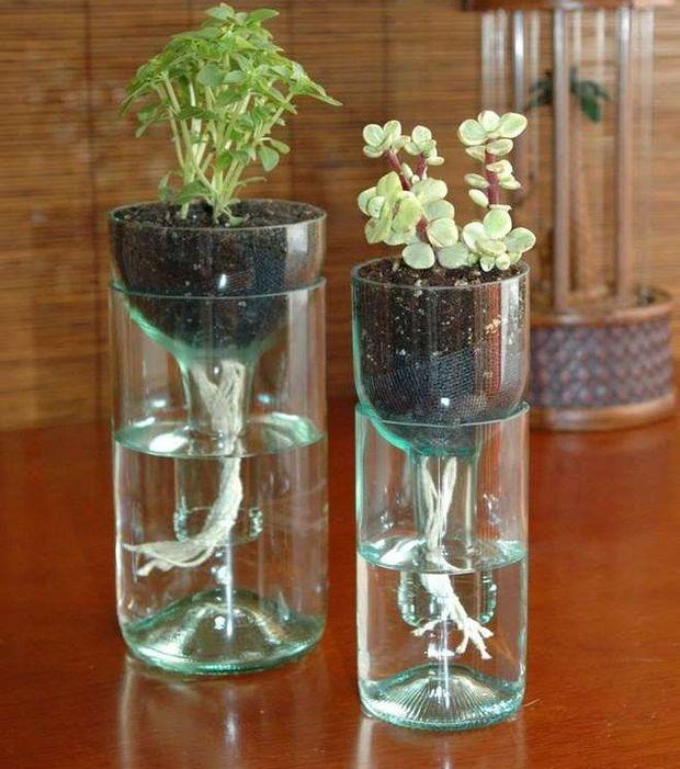 Recycler des bouteilles en vases