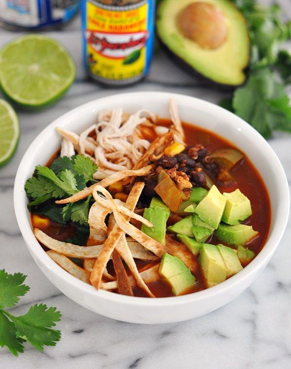 Healthy Chicken and Quinoa Tortilla Soup