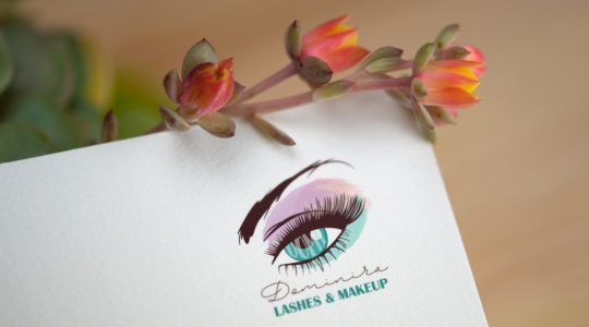 Lashes and Make-up Artist Logo Design | Sminkes logó design