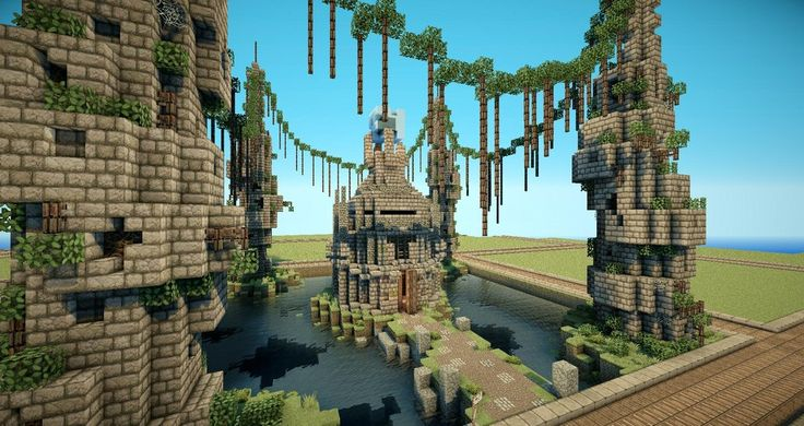 /r/minecraft: Here's an overgrown temple I made!