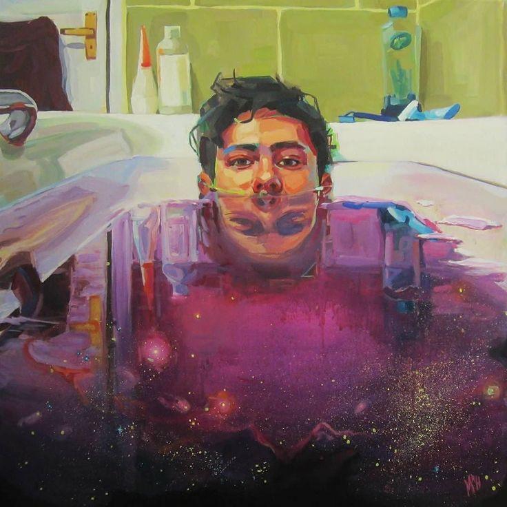 'I Heard A Star I Spoke To God'. Oil on canvas. Painting by Madeline Hutchinson @madelinehutchinsonart Australia. 'Я услышал Звезду я говорил с Богом'. Масло холст. Картина Мадлен Хатчинсон Австралия.  #иллюстрация #живопись #искусство #графика #холст #масло #арт #art #illustration #pencil #artsy #drawing #contemporaryart #draw #oil #sketchbook #graphic #timetoart