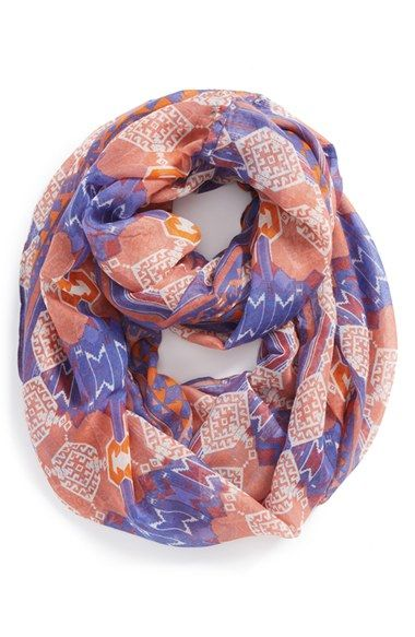 BP. Geo Print Infinity Scarf (Juniors) available at #Nordstrom
