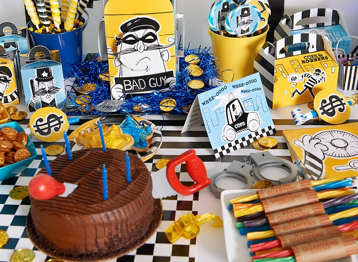New, exclusive theme from BirthdayExpress - Cops & Robbers! #cops #BirthdayExpress