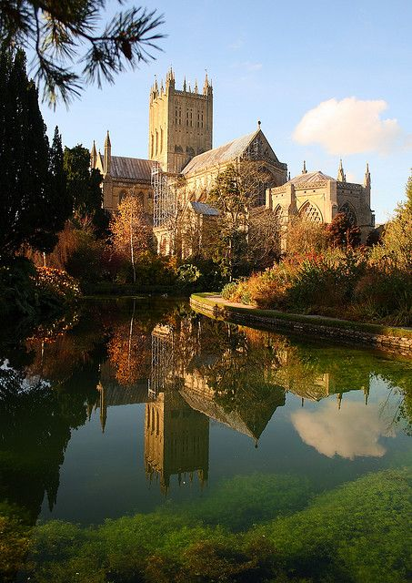 Wells Cathedral, Somerset; the location for ElizabethGoudge's 'Gentian Hill'
