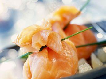 Aumônières de saumon fumé