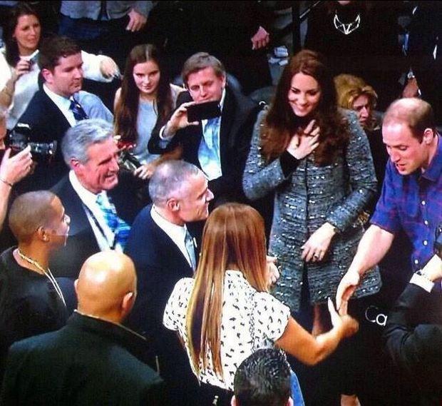 Kate Middleton en prins William ontmoeten Beyoncé en Jay Z in New York
