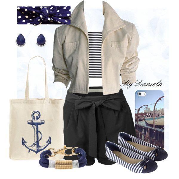 námornícky štýľ by daniela30-1 on Polyvore featuring Apiece Apart, YSL RIVE GAUCHE, Accessorize, Tri-coastal Design and Apt. 9