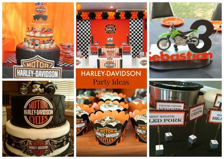 17 best images about harley davidson party ideas for young for Decoration maison harley davidson